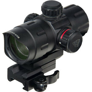 """UTG 4"""" ITA Red/Green Tactical Dot Sight with Riser Adapter"""