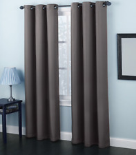 Solid Amy Thermal Blackout Window Curtain Panel With Reflecting Shiny Back New