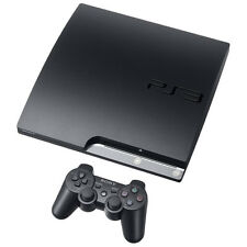Sony PlayStation 3 Slim 160 GB Black Console Very Good Condition COMPLETE