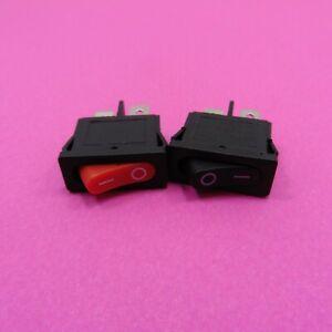 2 Pin Snap Rocker Switch 10A 250V 6A 125V AC Mount ON-OFF Button SPST 21x9.5mm