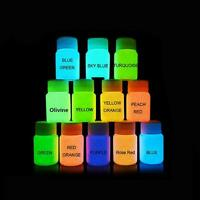 Paint Glow - Neon UV Face & Body Paint Glow in the Dark - 20ml Set of 12 colours