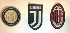 Patch Toppa Scudetto Juventus Inter e Milan Ricamata Termoadesiva Serie A Calcio
