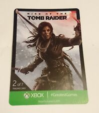 Xbox One Rise of the Tomb Raider Coleccionable Tarjeta de EGX 2015