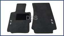 Genuine BMW Z3 Front Carpet Floor Mats Set Embroidered Black OEM (95-02)