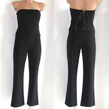 Completo Just Cavalli class 42 donna corpino + pantalone nero top vestito