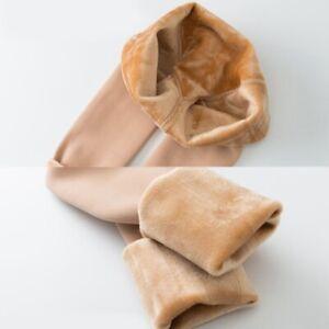 Femmes Faux Chair Polaire Collants Extensible Épais Thermique Collant Bas Hiver