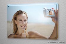 Your photo image picture printed on a metal plate tin sign