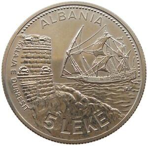 ALBANIA 5 LEKE 1987 TOP #s34 021