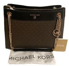 $328 New MICHAEL KORS SUSAN MD SHLDR BROWN/BLACK Women's Shoulder Hand Bag