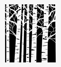 Aspen Trees Stencil Tree Template Paint Art Background Pattern Craft New By Tcw