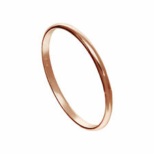 Small Rose Gold Plated Sterling Silver 1mm Plain Stacking Ring