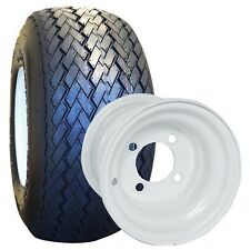 NEW Set Of 4 Tires and Wheels For Golf Cart Carts Club Car, Yamaha, EzGo, Star,