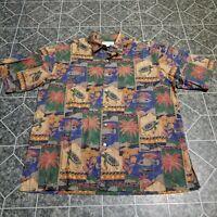 VTG Tori Richard Honolulu Mens Muti Color SS Hawaiian Shirt 100Cotton Lawn Sz XL