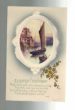 1916 Channel Island Jersey England Happy Birthday postcard cover Local Use