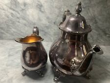 Webster Wilcox International Silver Co. American Rose Coffee And Creamer 7302/4
