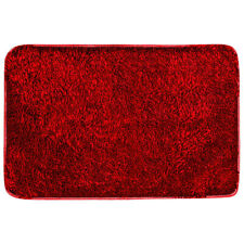 Shiny Chenille Red Area Rug Non-slip Living Room Carpet Home Floor Mat Absorbent