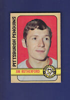 Jim Rutherford RC 1972-73 O-PEE-CHEE OPC Hockey (EXMT) #15 Pittsburgh Penguins