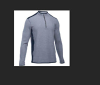 New With Tags Mens Under Armour UA ColdGear Infrared Survival Fleece Zip Caliber