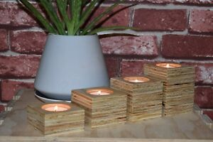 Tea Light Candle Holder timber handcrafted custom orders available