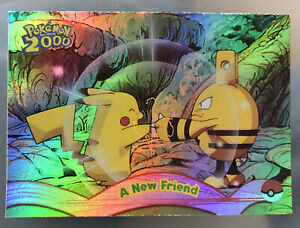 TOPPS POKEMON MOVIE 2000 Rainbow Foil Trading Card # 5