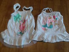 Toughskins girls 3t shirts summer sleeveless, pretty!!