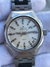 VINTAGE ZENITH DEFY AUTOMATIC DIVER CAL.2552PC MENS 37X44mm SWISS.JUST SERVICED