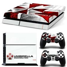 Umbrella Res Evil PS4 Protective Skin Sticker Set Console & 2 Controllers -#941