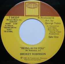 """SMOKEY ROBINSON  Being With You / What's In Your Life 7"""" 45rpm Tamla Record 1981"""