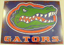 Florida Gators Distressed Metal Sign Wall Plaque New #83792