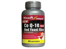 50 SOFTGELS COQ10 PLUS RED YEAST RICE 600 mg CO Q-10 60 mg servin heart health