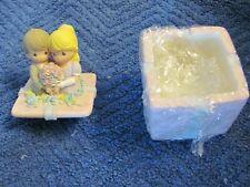 Enesco P/M wedding couple covered box