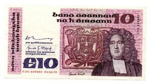 Ireland, Central Bank of Ireland, 10 Punt, 18th July 1978, Jonathan Swift,
