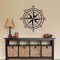 COMPASS ROSE Nautical Mural Vinyl Wall Art Decal Sticker Decor Lettering Quote