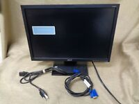 """Acer V193W 19"""" LCD Monitor Widescreen 1440 x 900 w/ VGA and Power cable"""