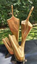 Itzik BenShalom Bronze Sculpture pair, nude man woman 2 pc. Signed numbered 1982