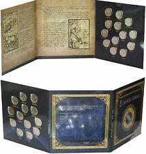 Transnistria PMR 1 rouble rbl, 2016, 13 coins Signs of Zodiac, UNC, in album