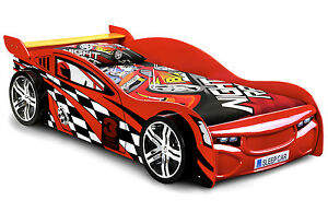 Red Racing Sports Car Bed Frame 3ft Single Racer Bed