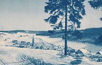 Schönwald im Schwarzwald - Winterbild - Ortsansicht um 1930 oder früher