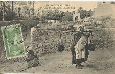 Postcard - MAROC / SCENES ET TYPES / PORTEUR D'EAU INDIGENE DANS LE SUD