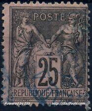 FRANCE SAGE N° 97 PETIT CACHET A DATE BLEU A VOIR