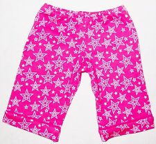 """Pink Stars 7"""" American Girl Capri Pants with Cuff Doll Clothes"""