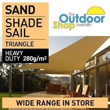 DIY Shade Sail Sand 3 m x 3.07 m x 3.07 m SAND Triangle 280gsm Beige Sun Sails