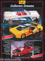 3001MAI Maisto Modellauto 1995 Prospekt brochure model cars Katalog Modellautos