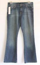 Calvin Klein Jeans Women's SZ 12 Regular Fit & Flare Blue Jean Denim Pants NWT