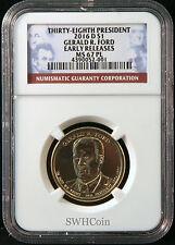 2016-D $1 Gerald R. Ford Presidential Dollar - NGC MS67 PL (Proof-Like) - ER