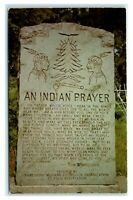Postcard An Indian Prayer - Six Nations Indian Museum, NY stone J18