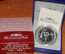 France 2004 Samuel Champlain 400 Years Sainte Croix 0,25 euros Silver Proof 1/4€