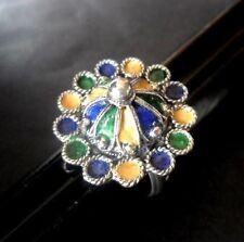 Bague kabyle bijou Berbère Amazigh argent massif ethnic silver jowel ring