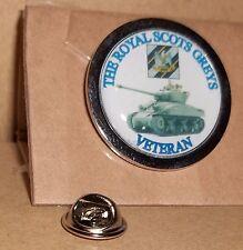 HM Armed Forces Royal Scots Greys Veteran lapel pin badge .