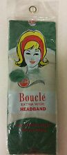 Vintage Headband! Extra Wide Boucle Stretch Nylon! Unique old hard to find Item